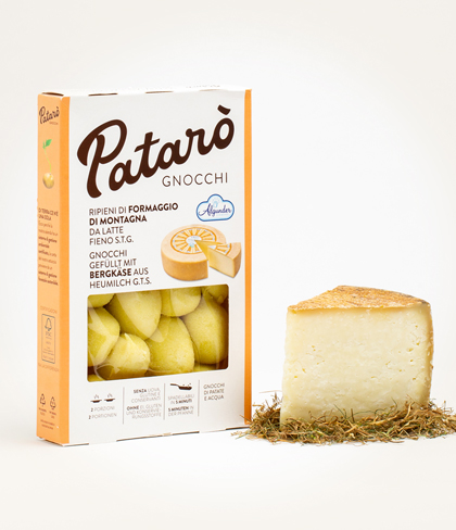 gnocchi di solo patate e acqua ripieni di formaggio latte fieno patarò