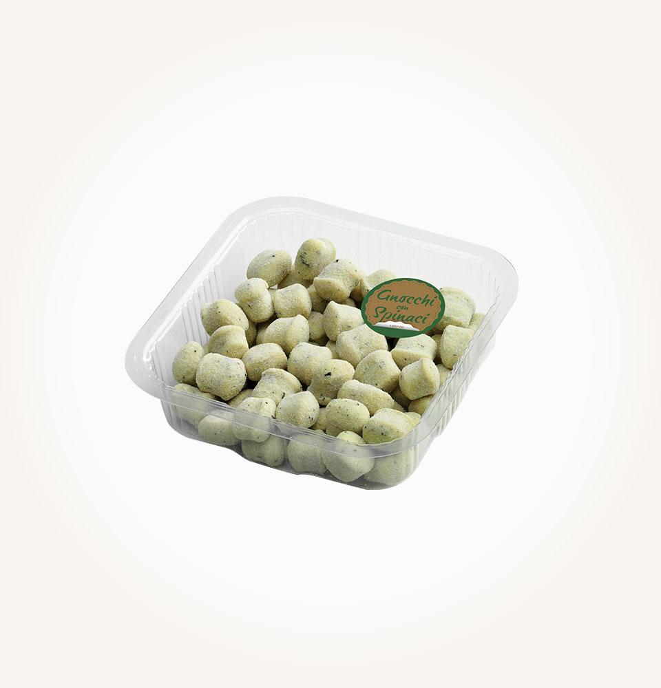 gnocchi di solo patate, acqua e spinaci take away patarò