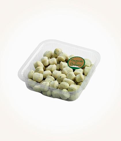 gnocchi di solo patate, acqua e spinaci take away pataro